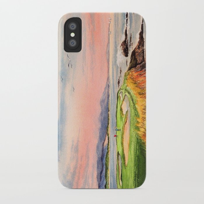 new style 64b81 3c445 Pebble Beach Golf Course Hole 7 iPhone Case