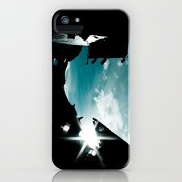 Blue in China iPhone Case