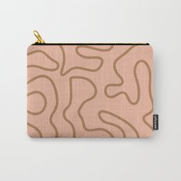 Squiggle Maze Abstract Pattern in Cocoa and Millennial Pink Carry-All Pouch