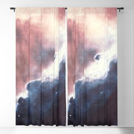 Iridescent blue nebula sea in blush constellation of ultraviolet galaxy ocean Space Blackout Curtain