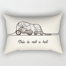 This is not a hat Rectangular Pillow