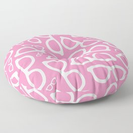 Smart Glasses Pattern - Pink Floor Pillow