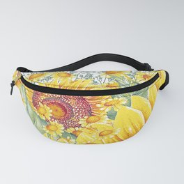 Vintage Garden 15 (Sunflower Field) Fanny Pack