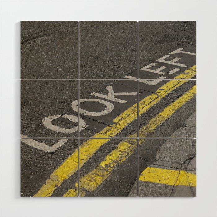 Look left Wood Wall Art