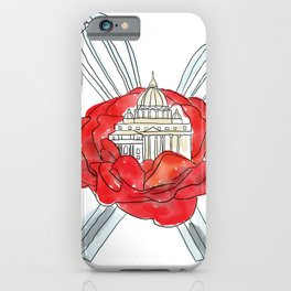 Rome, Whisk, Roses iPhone Case