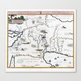 Vintage Map Situation of the Terrestrial Paradise Canvas Print