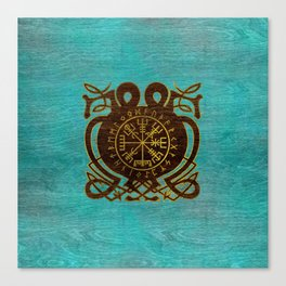 Vegvisir - Viking  Navigation Compass Canvas Print