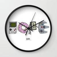 dope Wall Clocks featuring DOPE by shoooes