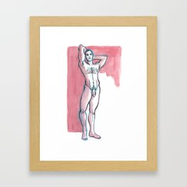 JORDAN, Nude Male by Frank-Joseph Framed Art Print