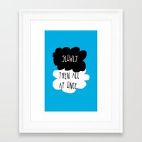 the fault in our stars Framed Art Prints featuring the fault in our stars by Kathy157