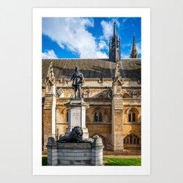 Oliver Cromwell Statue London Art Print