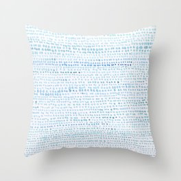 BLUE/GREEN DOTTED PATTERN  Throw Pillow