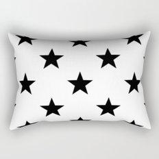 Stars B&W Rectangular Pillow