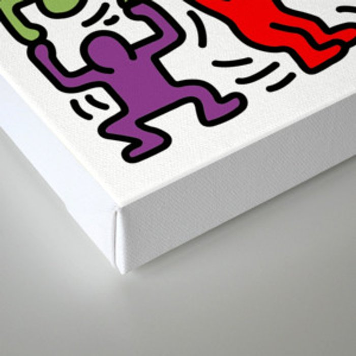 Homage to Keith Haring Acrobats II Canvas Print