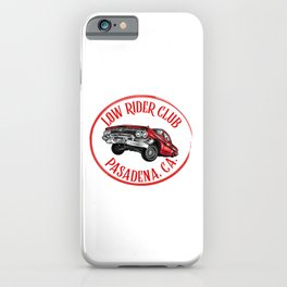 Low rider Club, Pasadena, California. iPhone Case