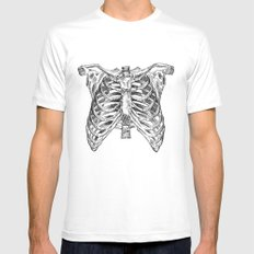 rib cage MEDIUM White Mens Fitted Tee
