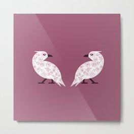 Valentine Crows Metal Print
