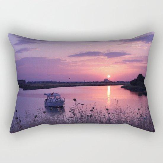 red sun Rectangular Pillow