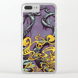 Epiphycadia III: Violet Clear iPhone Case