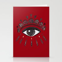 kenzo Stationery Cards featuring KENZO eye red by cvrcak