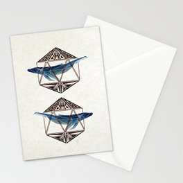 whale in the icosahedron Stationery Cards