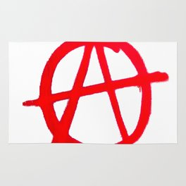 Anarchy Graffiti Rug