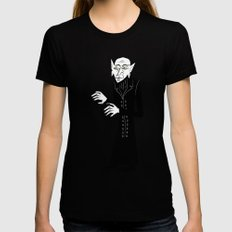The Halloween Series - Nosferatu Womens Fitted Tee Black LARGE