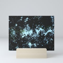 Tops of the leaves of trees silhouettes Mini Art Print