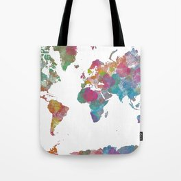 World Map - Watercolor 3 Tote Bag