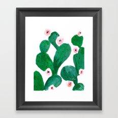 Cactus Clean Green Framed Art Print