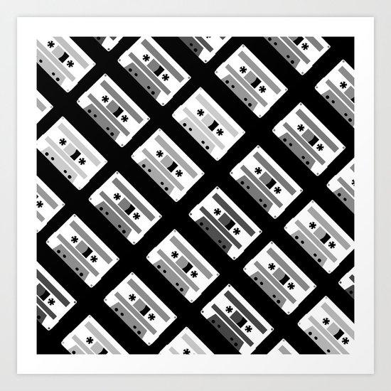 Black and White Tapes 45 Art Print