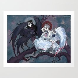 Sirin and Alkonost Art Print
