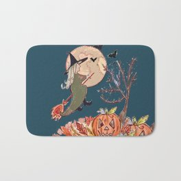 Witch On A Broomstick Bath Mat