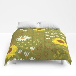 sunflower garden Comforters