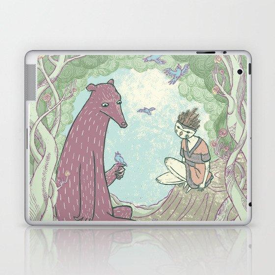 Bear and Bird Laptop & iPad Skin