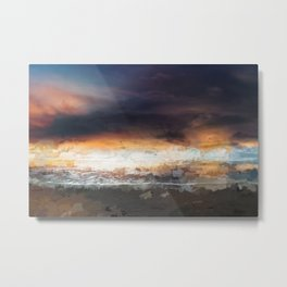 Sky, Ocean and birds Metal Print
