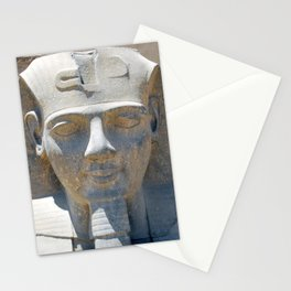 Head of Ramesses II, Luxor temple, Egypt Stationery Cards