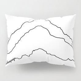 Tallest Mountains in the World B&W / Mt Everest K2 Kanchenjunga / Minimalist Line Drawing Art Print Pillow Sham