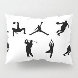 Sports silhouettes Pillow Sham