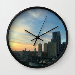 Sunrise Circular Quay Sydney Wall Clock