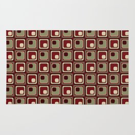 Lost in Translation Retro Geometric Seamless Pattern Rug