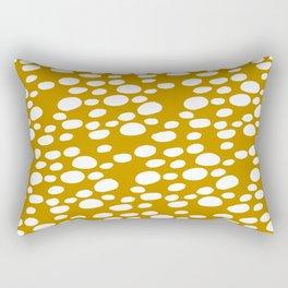 Monstera Leaf Hole Pattern - mustard yellow Rectangular Pillow