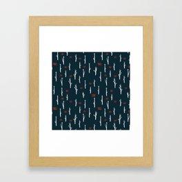 cold flora 3 Framed Art Print