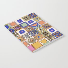 Hand Drawn Floral Patchwork Notebook