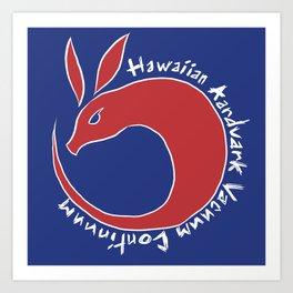 Hawaiian Aardvark Art Print