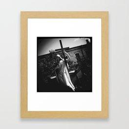 Cross, Glass and Grief  [ver.1] Framed Art Print