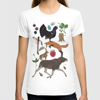 woodland T-shirts featuring Woodland by Emma Jansson