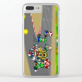 Mario Circuit Clear iPhone Case