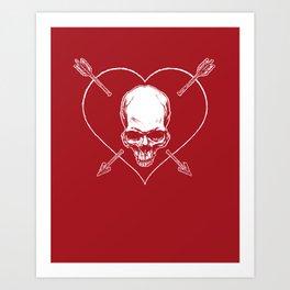 Eros & Thanatos (Joli Rouge Red Flag) Art Print