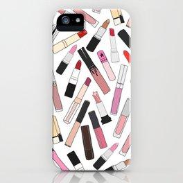 Lipstick Party - Light iPhone Case